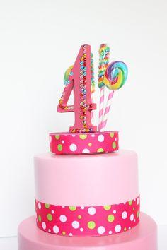 Candyland Lollipop Candy Cake Topper by OverTheTopCakeTopper