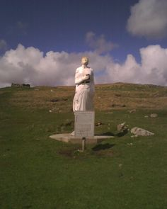 The 'White Wife' memorial on the Isle of Yell, Shetland Islands