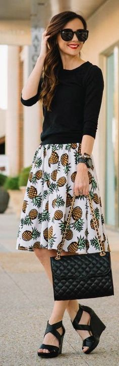 Pineapple Skirt Inspiration Outfit by Sequins & Things