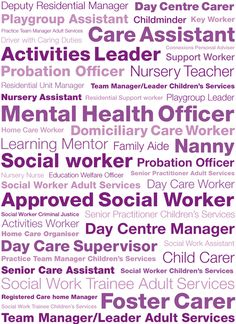 what kind of careers are there? Nursery Assistant, Probation Officer, Nursery Teacher, Healthcare Jobs, Career Inspiration, Child Care, Social Science, Case Study