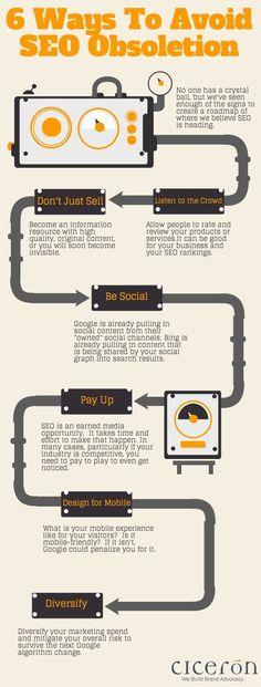 6 Ways to Avoid SEO Obsoletion [Infographic] #searchengineoptimizationadvanced,