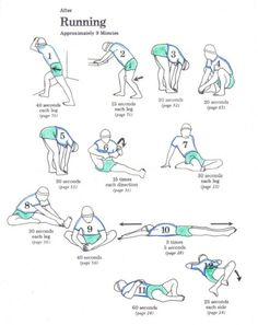 After running stretches. I need to be better about stretching before and after running.