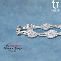 #Beautiful #designer #diamond #bangle available on iskiuski.com
