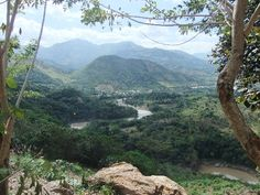 Camotan, Guatemala. The road to Copan in Honduras from the coast in El Salvador winds up through the mountains of eastern Guatemala through mountainous terrain with few villages but great sweeping vistas, like this one near Camotan.