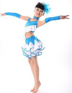 US $26.50 / piece Children Latin Dance Dresses Girls Dance Costumes For Kids Vestidos De Baile Stage Sexy Dress Cha Cha/Rumba/Samba/Ballroom Dress
