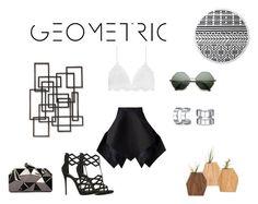 """Going Geometric!"" by kellyboo21 ❤ liked on Polyvore featuring Yojiro Kake, Palecek, Bling Jewelry, Giuseppe Zanotti, WithChic, The Beach People and Takethetime"