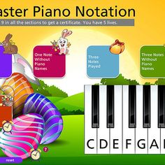 Easter Piano Notation Interactive Games (Treble Clef) Vocal Lessons, Easter Games, Treble Clef, Recital, Piano, How To Get, Teacher, Music, Life