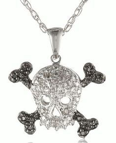 cool silver/diamond skull o pendant amzn.com/wyznen