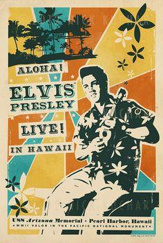 "Elvis Poster ""Aloha"" for the USS Arizona Memorial Benefit concert, March 25, 1961"
