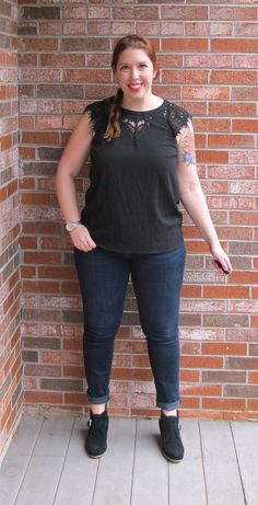 #stitchfix @stitchfix stitch fix https://www.stitchfix.com/referral/3590654 February 2016 Stitch Fix - Brixon Ivy Jarred Lace Detail Cap-Sleeve Blouse from @joulesdellinger