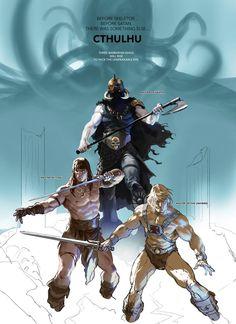 Barbarian Kings - Death Dealer, Conan, and He-Man by Marko Djurdjevic *