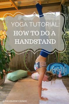 Step-by-step handstand tutorial - Pin now, practice later!