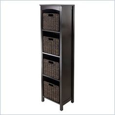 Select 72.01 in. H MDF Storage Cabinet in Espresso (Brown ...