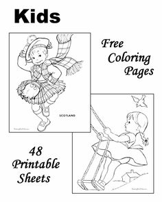 JOHN 316 WORLD HERITAGE THEME Kids Coloring Sheets Children In National