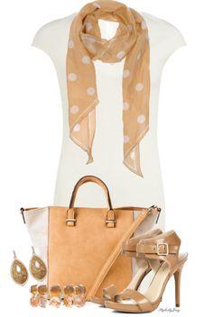 Cream deep v tee dress