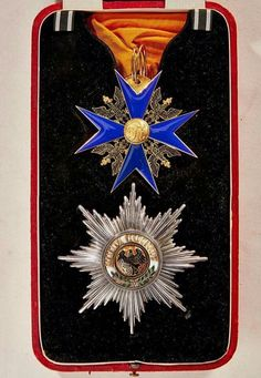 Star and sash badge of the Order of the Black Eagle, Kingdom of Prussia Military Signs, Military Orders, Military Art, Military Decorations, War Medals, Grand Cross, German Uniforms, Royal Life, Royal Jewelry