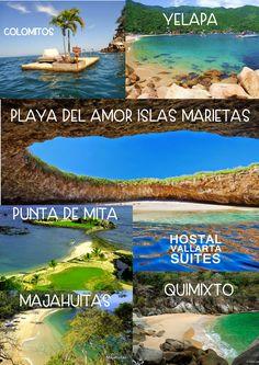 TENEMOS TODO LO QUE NECESITAS PARA PASAR UNOS DÍASAL MÁXIMO EN PUERTO VALLARTA Y LA RIVIERA NAYARITA. HOSTAL VALLARTA SUITES UN LUGAR BUENA VIBRA, LIMPIO, COMODO Y DIVERTIDO. TENEMOS OPCIONES PARA… Mexico Vacation, Mexico Travel, Vacation Spots, Oh The Places You'll Go, Places To Travel, Places To Visit, Resorts, Puerto Vallarta Vacations, Riviera Nayarit