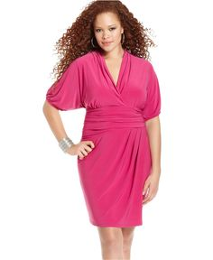 Love Squared Plus Size Dress, Short-Sleeve Ruched - Plus Size Dresses - Plus Sizes - Macy's