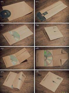 Fold your own CD sleeve