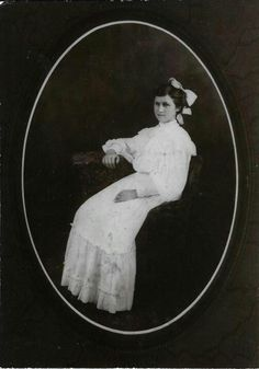 My Great grandmother, Orpha Ellen SAWYERS Simmons taken on her wedding day 08/08/1908. Her birthday was 08/15/1887