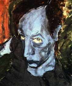 Portrait of Iggy Pop by David Bowie. (Bowie was an interesting Erich Heckel inspired painter during his Berlin period). Great Paintings, Soulful Art, Painter, Great Artists, Painting, Art Videos, Postmodern Art, Bowie, David Bowie Artwork