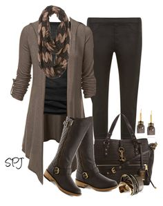 """""""Quilted Boots"""" by s-p-j ❤ liked on Polyvore"""
