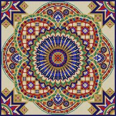 Tile Pattern 13 Mesh 14 x 14 Treglown Designs - The NeedleArt Closet Cross Stitch Pillow, Cross Stitch Borders, Counted Cross Stitch Patterns, Cross Stitch Charts, Cross Stitch Designs, Cross Stitching, Cross Stitch Embroidery, Embroidery Patterns, Tapestry Crochet
