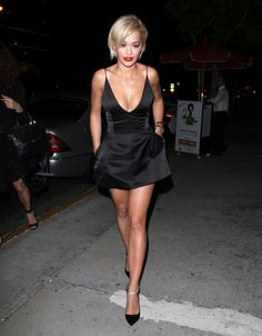 Pin for Later: The Weekend's Must-See Snaps! Single Lady After news of Rita Ora's breakup with Calvin Harris emerged Friday, the vocalist stepped out in a revealing dress. Revealing Dresses, Sexy Dresses, Inspiration Mode, Glamour, Oras, Single Women, Sexy Legs, Celebrity Style, Celebs