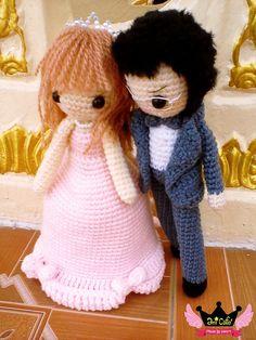 Wedding amigurumi bride and groom dolls. (Inspiration).