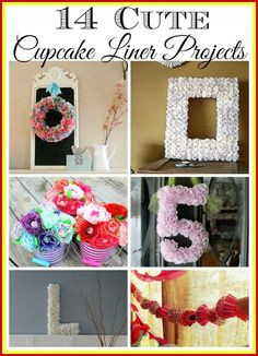 Cupcake liners are cheap & great for crafting! Take a look at all the things you can make - 14 pretty cupcake liner projects