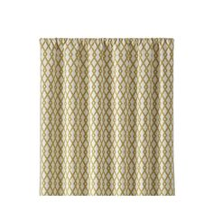 """Moritz 50""""x84"""" White and Gold Curtain Panel - Crate and Barrel"""