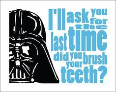 Darth Vader Typography Star Wars 8x10 Print Brush Your by DBArtist, $18.00