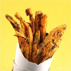 OMG! Sweet potato fries, another vice of mine. Thankfully, these are baked. :-D