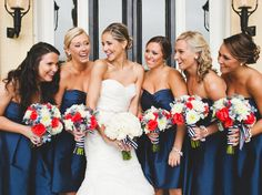 12 Festive Red, White and Blue Wedding Ideas | TheKnot.com