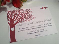 wedding invitations Tree of Love wedding by LovableInvitations