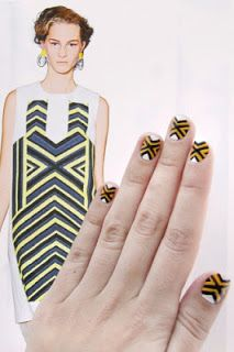 "paper faces: Podyumlardan İlham Alan ""Nail Art"""