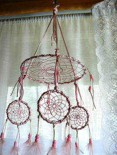Dream Catcher Mobile by Winchestergems on Etsy, $46.00