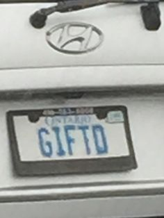 Gifted Vanity License Plates, Cool Stuff, Cool Things