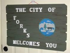 My homemade Forks sign
