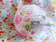 Light up your place with decoupage lantern/lamp, make your house looks more artistic today!