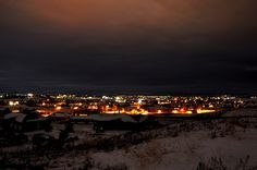 Lights of Laramie, Wyoming  Reminds me of Christmas time in Wyoming.