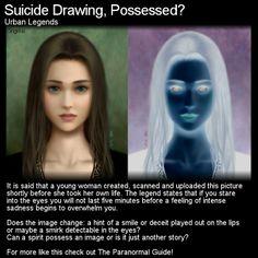 This urban legend comes from Japan... can a drawing instill sadness and depression in those who view it? Head to this link for the full article: http://www.theparanormalguide.com/1/post/2012/11/suicide-drawing-possessed.html