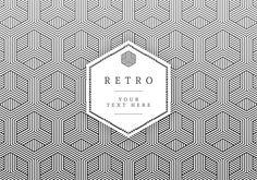 Geometric Retro Vector Card Icon Set
