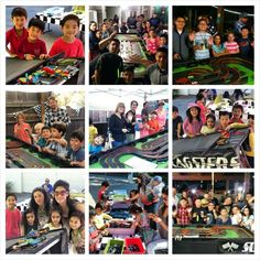 Lego dragsters and slot car racing with Racing Party Events.com