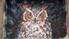 Mixed Media Great Horned Owl