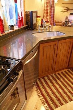 Kitchen ideas for mobile homes - corner sink
