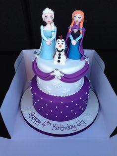 Lily's 4th birthday cake. Disney's Frozen