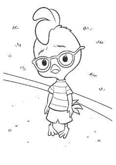 Disegni da colorare per bambini. Colorare e stampa Chicken Little 12