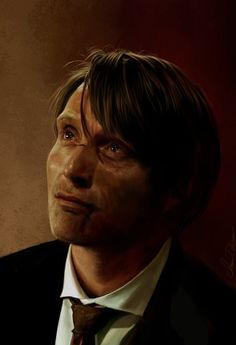 Hannibal Lecter by AmandaTolleson ( http://amandatolleson.deviantart.com/art/Hannibal-Lecter-374272924 )