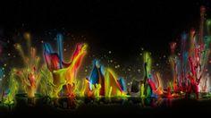 exploding exotic beautiful neon vibrate vivid splashes